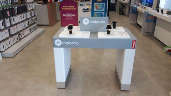 motorola retail display installation at dixons