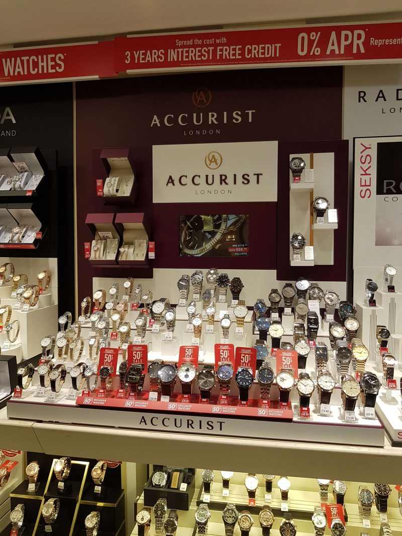 RTI accurist london watch stand