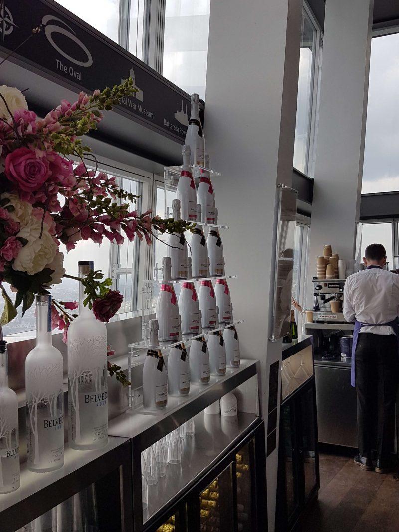 Shard Moet Wine Display